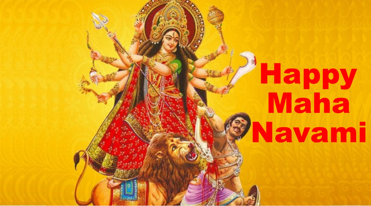 Happy Maha Navami HD Images, Telugu Wishes & Wallpapers For Free Download Online: Send Subho Nabami WhatsApp Stickers and GIF Greetings