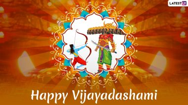 Happy Vijayadashami 2019 Greetings: WhatsApp Stickers, Maa Durga GIF Images, Ram Ravan Yudh Photos and SMS to Send on Dussehra