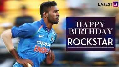Happy Birthday Hardik Pandya: From Surviving on 'Maggi' to Earning 'Rockstar' As Nickname, Here're Lesser-Known Things to Know about Star Indian All-Rounder!