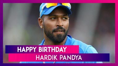 Hardik Pandya Birthday Special: Lesser-Known Things to Know About Flamboyant Indian All-Rounder