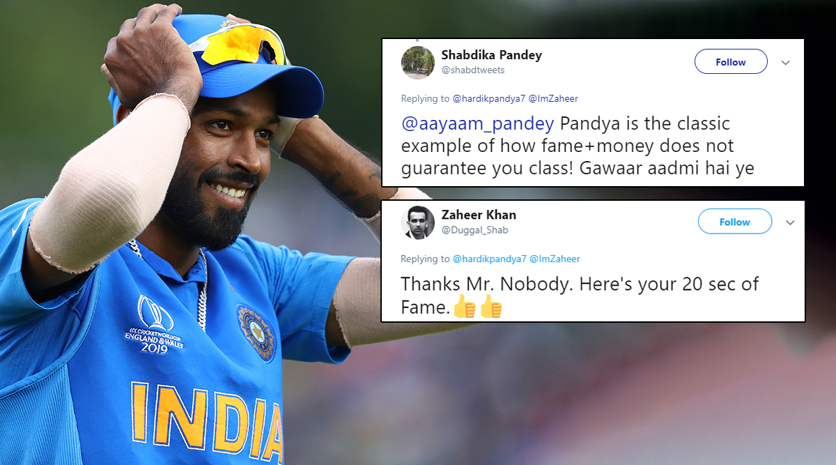 Hardik Pandya's 'Ill-Mannered' Birthday Wish for Zaheer Khan Does Not Go Down Well with Netizens, Gets Brutally Roasted on Twitter and It's Too Funny to Ignore!