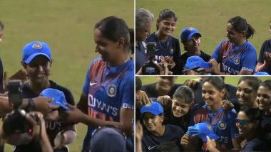 Harmanpreet Kaur Receives Special Cap As She Becomes First Indian Cricketer to Play 100 Twenty20 Internationals (Watch Emotional Video)