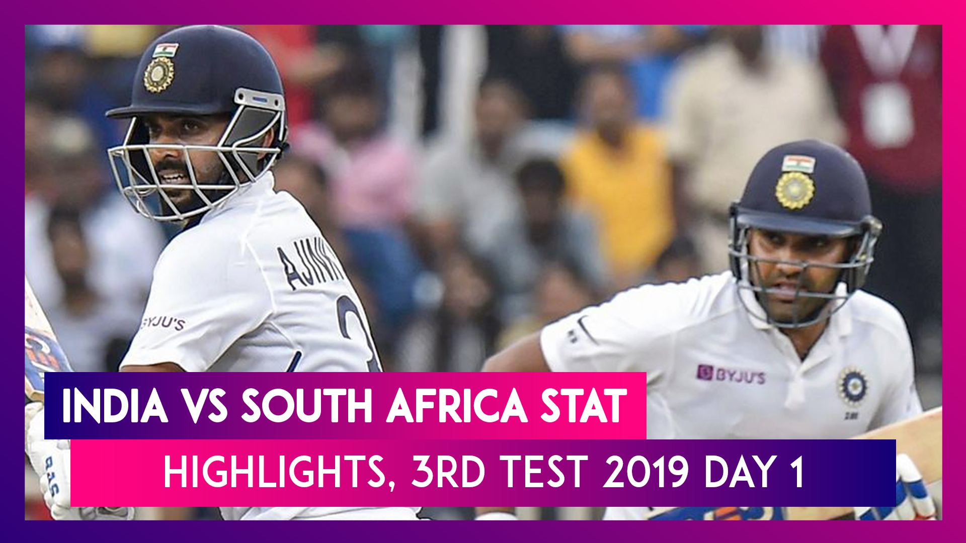 India vs South Africa Stat Highlights, 3rd Test 2019 Day 1: Rohit Sharma Hits Ton, India 224/3