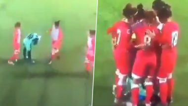 Video of A Female Footballer Getting Helped By Opponents After Her Hijab Came Off During WAFF Women's Championship Leaves Internet Divided