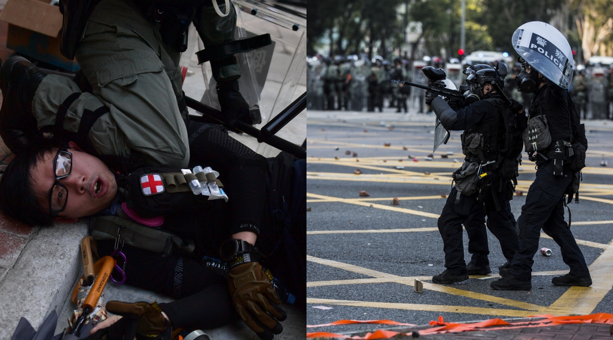 Hong Kong: Police Shoot Pro-Democracy Protester in Chest as China Celebrates 70th Birthday