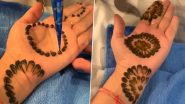 Karwa Chauth Last-Minute Mehndi Ideas: Video of Husband Applying Mehndi For Wife Using Bangles and Earbuds Goes Viral