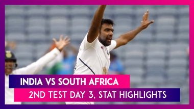 India vs South Africa Stat Highlights, 2nd Test 2019 Day 3: Ravi Ashwin Takes Four Wickets