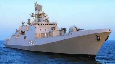 Cyclone Kyarr: INS Teg Rescues 17 Fishermen From Sinking 'Vaishno Devi Mata' Boat Off Mumbai Coast