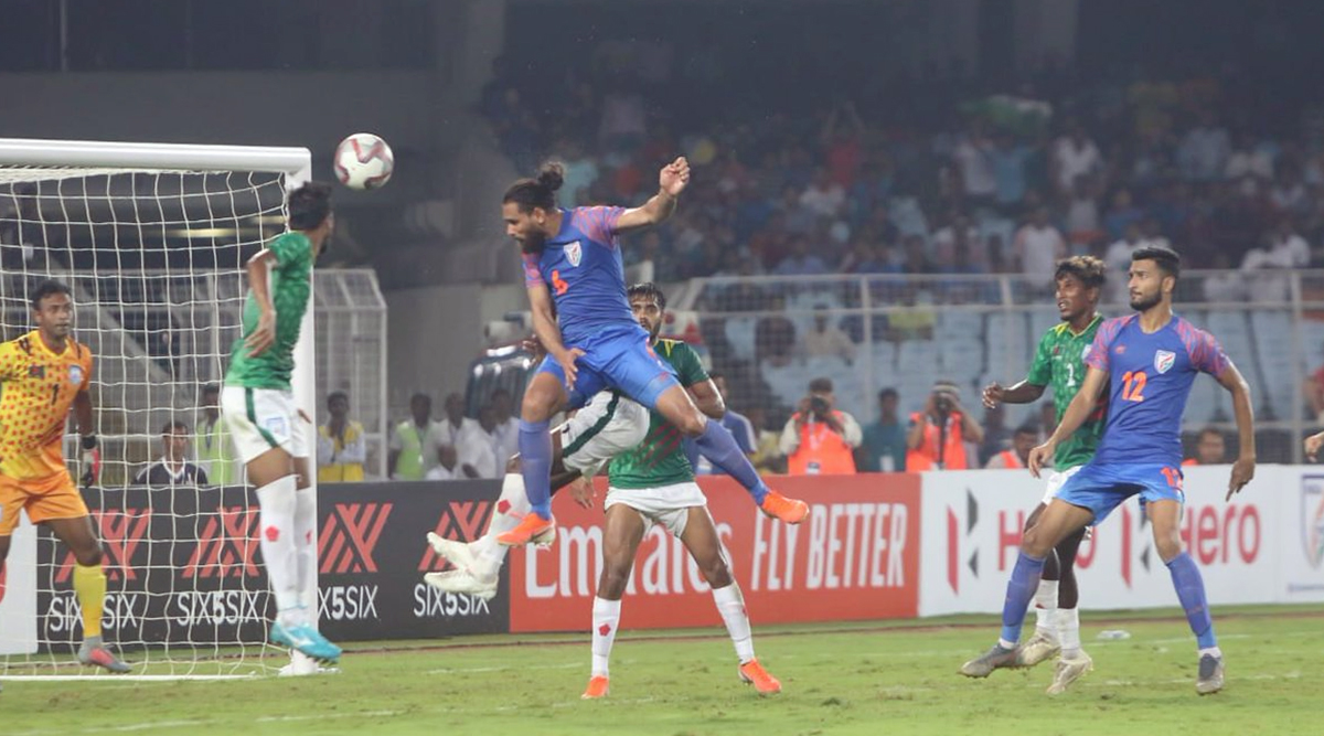 IND vs BAN FIFA World Cup 2022 Qualifier Match Result: Adil Khan Scores As Blue Tigers Make a Stunning Comeback to Tie Match Against Bangladesh 1-1