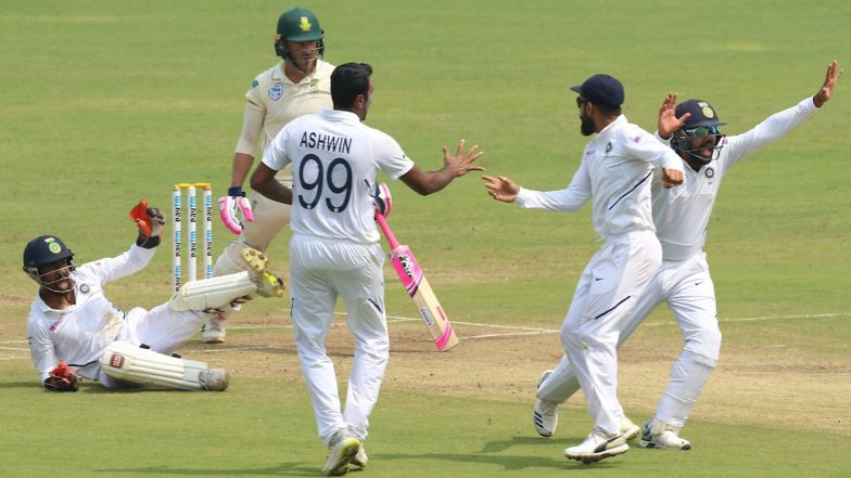 India vs South Africa 2nd Test 2019: R Ashwin- Ravindra Jadeja Duo Leave South Africa at Brink of Innings Defeat at Tea on Day 4