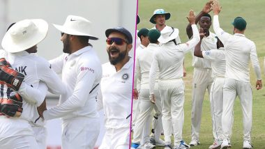 Live Cricket Streaming of India vs South Africa 3rd Test 2019 Day 1 on DD Sports, Hotstar and Star Sports: Watch Free Telecast and Live Score of IND vs SA Match on TV and Online