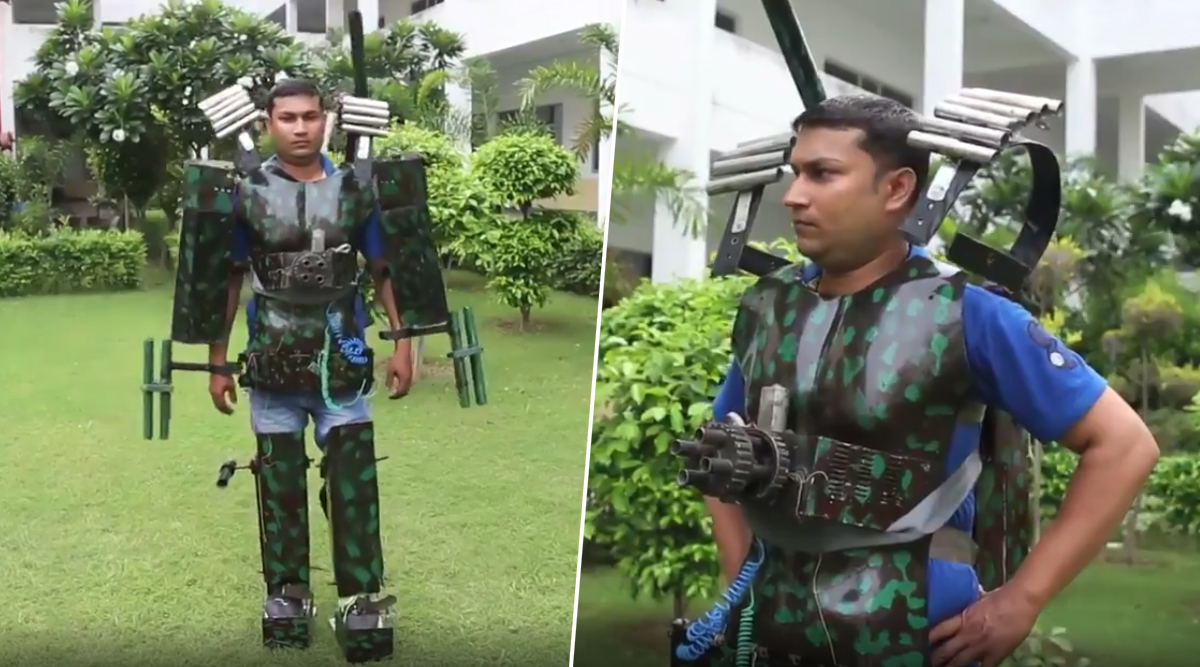 Indian Man's Version of 'Iron Man' Suit to Fight Terror is Getting Mixed Reactions From Twitterati (Watch Video)