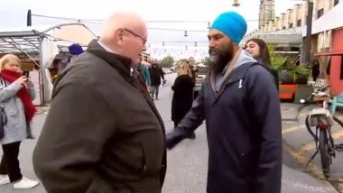 Jagmeet Singh, Indian-Origin Sikh MP of Canada, Asked to 'Cut Off' His Turban by Voter to Look 'More Canadian', Watch Video