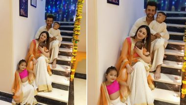 Jay Bhanushali and Mahhi Vij Celebrate First Diwali With Their Angel Tara, Share Perfect Family Picture That Needs to Framed Right Now