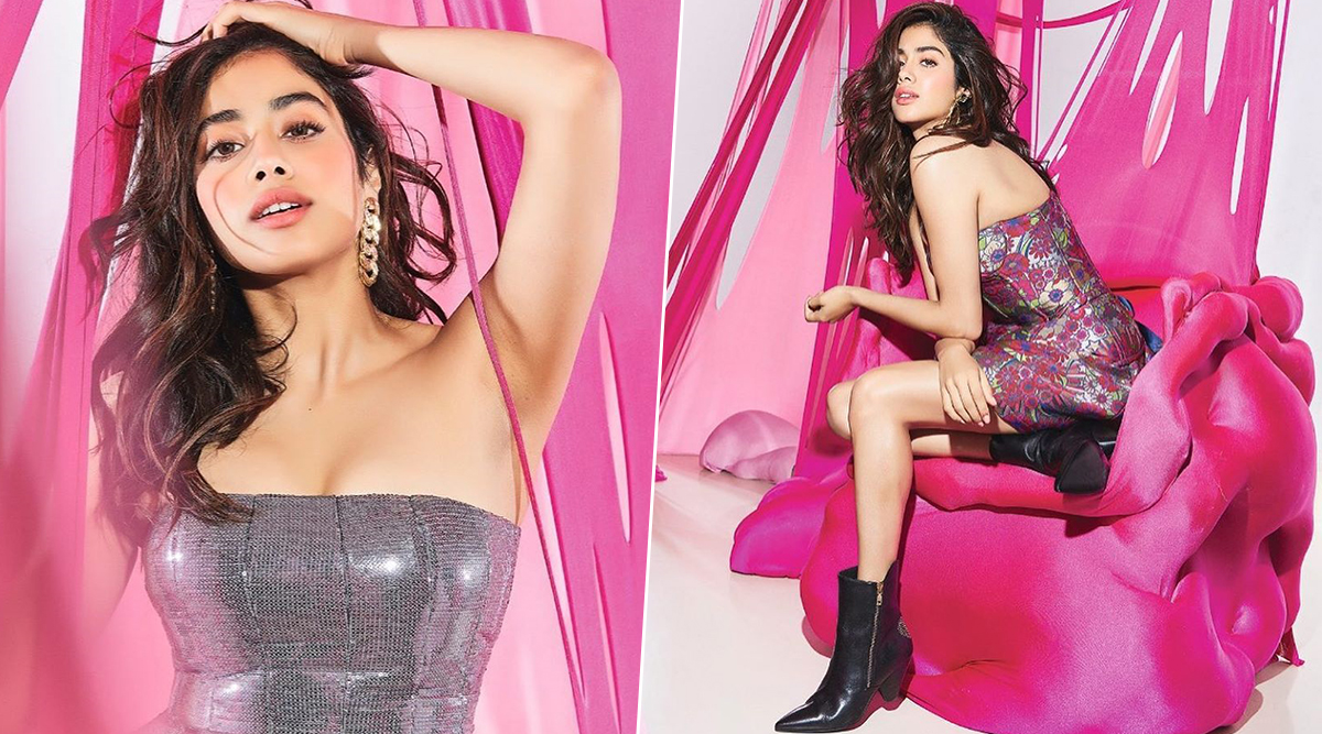 Janhvi Kapoor's Photoshoot by Rohan Shrestha Is Pink, Blingy and Sexy! (View Pics)