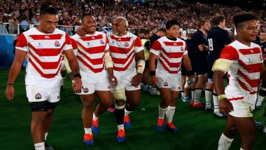 Japan Stuns Scotland by 28-21, Reach Rugby World Cup 2019 Quarter-Finals; Observes Silence For Typhoon Hagibis Victims