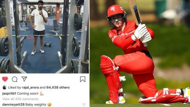 Jasprit Bumrah Shares Gym Selfie, Virat Kohli's 'Admirer' English Cricketer Danielle Wyatt Takes a Potshot at Indian Pacer (View Pic)
