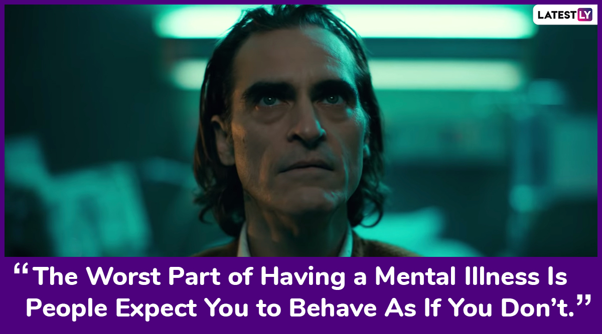 Joker S Quote On Mental Illness Hits Home On World Mental