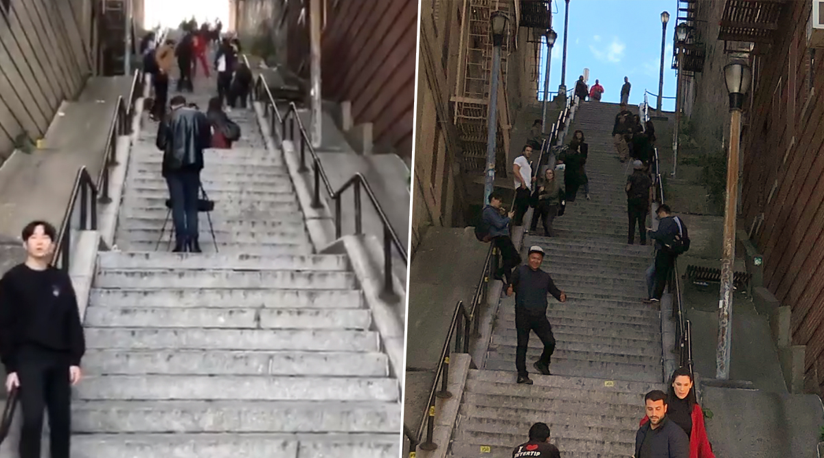 'Joker Stairs' Become a Popular Tourist Spot in NYC, But Locals Are Not Impressed (Watch Pics and Videos)
