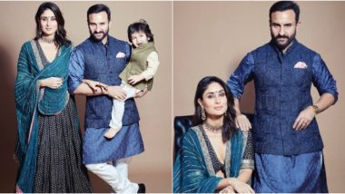 Kareena Kapoor Khan and Saif Ali Khan Define Elegance, Taimur Ali Khan Flashes His Adorable Grin in Their Diwali 2019 Photoshoot (View Pics)