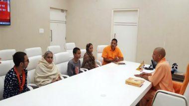 Kamlesh Tiwari Murder Case: CM Yogi Adityanath Meets Family of Former Hindu Mahasabha Leader in Lucknow, Assures Justice