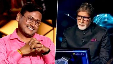 Kaun Banega Crorepati 11: After Sanoj Raj, Gautam Kumar Jha From Bihar Wins Rs 1 Crore Becoming Season's Second Crorepati! (Watch Video)
