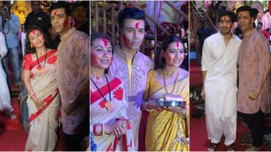 Bijoya Dashami 2019: Rani Mukerji, Karan Johar, Kajol and Others Celebrate Sindoor Khela (View Pics)