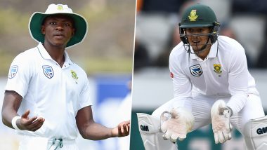 Kagiso Rabada and Quinton de Kock Engage in Heated Argument Over Overthrow During IND vs SA 2nd Test 2019 (Watch Video)