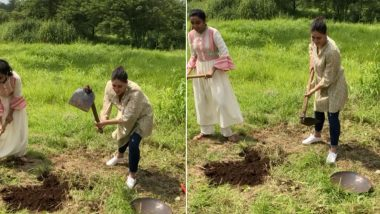 Kareena Kapoor Khan Is in Full Peasant Mode With a Spade in Hand at a Farm (Watch Video)