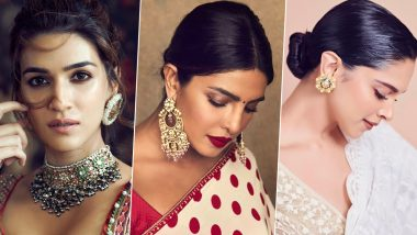 Karwa Chauth 2019 Jewellery Inspirations: Priyanka Chopra, Kriti Sanon and Deepika Padukone Are Here to Help You Bling on This Special Night