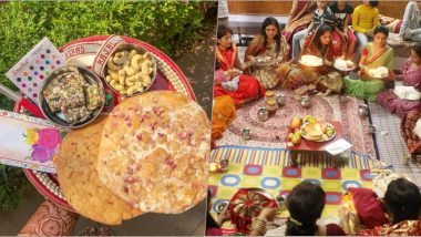 Karwa Chauth 2019 Sargi Thali Images: What Is Sargi? From Food Items to Other Samagri, Here's What Goes Into a Traditional Sargi Thali Given by Mother-in-Law for Karva Chauth Vrat