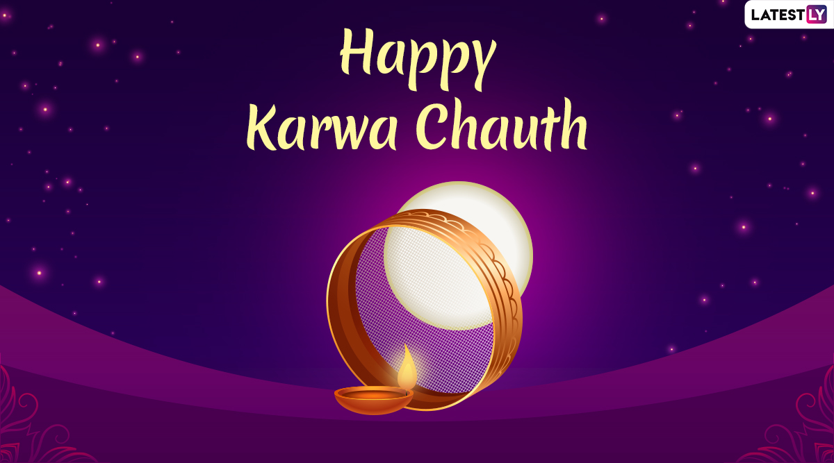Karwa Chauth Images & HD Wallpapers For Free Download Online: Wish Happy Karva Chauth 2019 With Beautiful WhatsApp Stickers and GIF Greetings