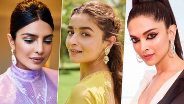 Karwa Chauth 2019 Celeb-Inspired Makeup Ideas: From Alia Bhatt's Natural Makeup to Priyanka Chopra's Neon Eyeliner, Here Are Some Inspirations for the Special Night
