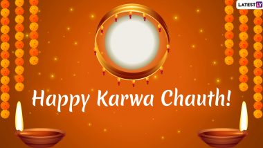 Karwa Chauth 2019 Wishes For Husband & Wife: WhatsApp Stickers, Romantic Facebook Greetings, GIF Images, SMS and Love Quotes For Karva Chauth!