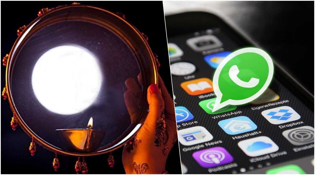 Karwa Chauth 2019 WhatsApp Stickers For Husband & Wife: How to Make Customised Special Photo Stickers to Send to Your Partner For Karva Chauth (Watch Video Tutorial)