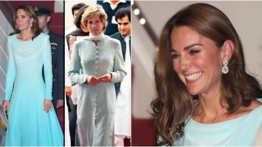 Kate Middleton Channels Princess Diana's Pakistan Tour Style But with a Twist (View Pics)