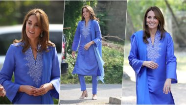 Kate Middleton's Day 2 Look During Pakistan Tour: Duchess of Cambridge Looks Ethereal in Stunning Traditional Wardrobe