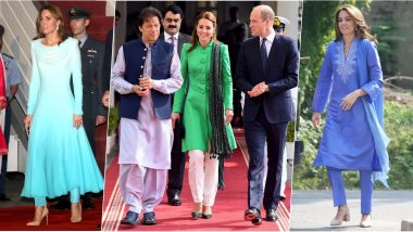 Kate Middleton's Traditional Salwar-Kameez Looks on Royal Tour of Pakistan Floors UK Media! View Pics of Duchess of Cambridge