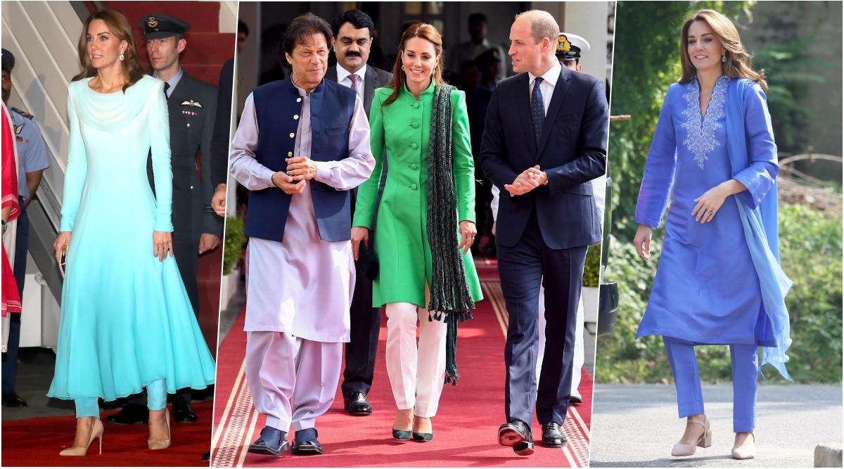 Kate Middleton's Traditional Salwar-Kameez Looks on Royal Tour of Pakistan Floors UK Media! View Pics of Duchess of Cambridge