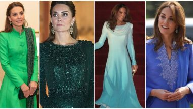 Kate Middleton Tours Pakistan The Traditional Way: Check Out Duchess of Cambridge's Stunning Salwar-Kameez Collection From The Royal Tour!