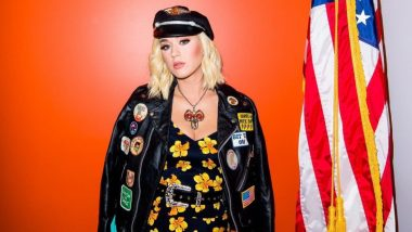 Katy Perry's Hawaiian Chic Ensemble With A Badass Jacket Is Perfect For A Harley-Davidson Museum Tour