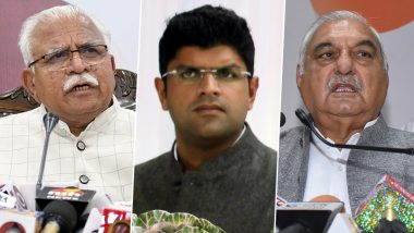 Haryana Assembly Election Results 2019 Live: Fractured Mandate Likely; Congress+JJP, BJP+JJP, BJP+INLD Among Govt Formation Possibilities