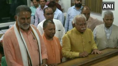 Haryana Assembly Elections 2019: ML Khattar Files Nomination From Karnal Constituency in Presence of UP CM Yogi Adityanath