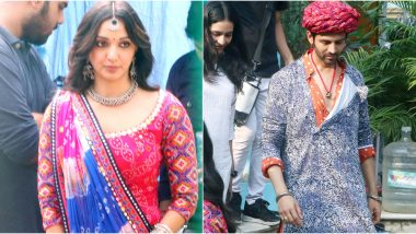 Bhool Bhulaiyaa 2: Kartik Aaryan and Kiara Advani Begin Shoot in Traditional Attires and We Couldn't Be More Curious (See Pics)