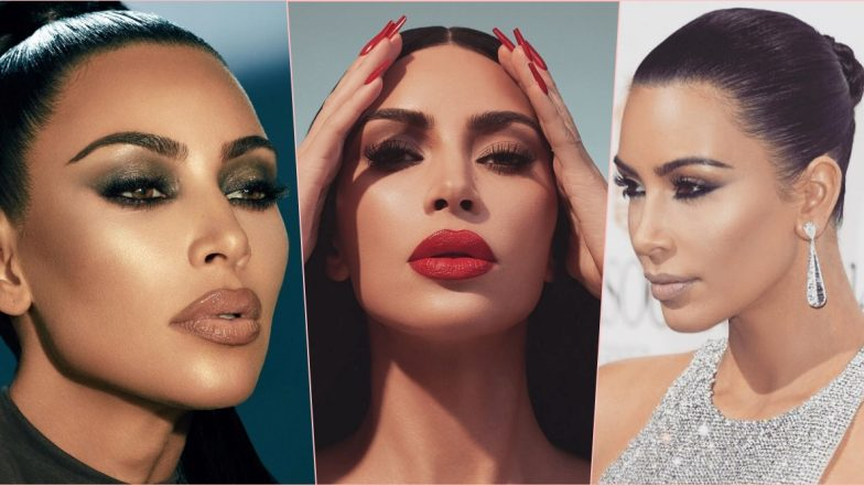 Kim Kardashian Birthday Special: 10 Pictures of the Reality Star to Prove She's the Queen of Makeup!