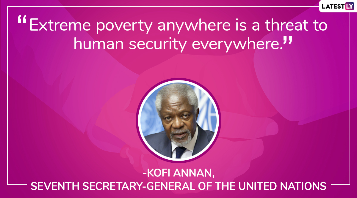 International Day For The Eradication Of Poverty 2019 Quotes