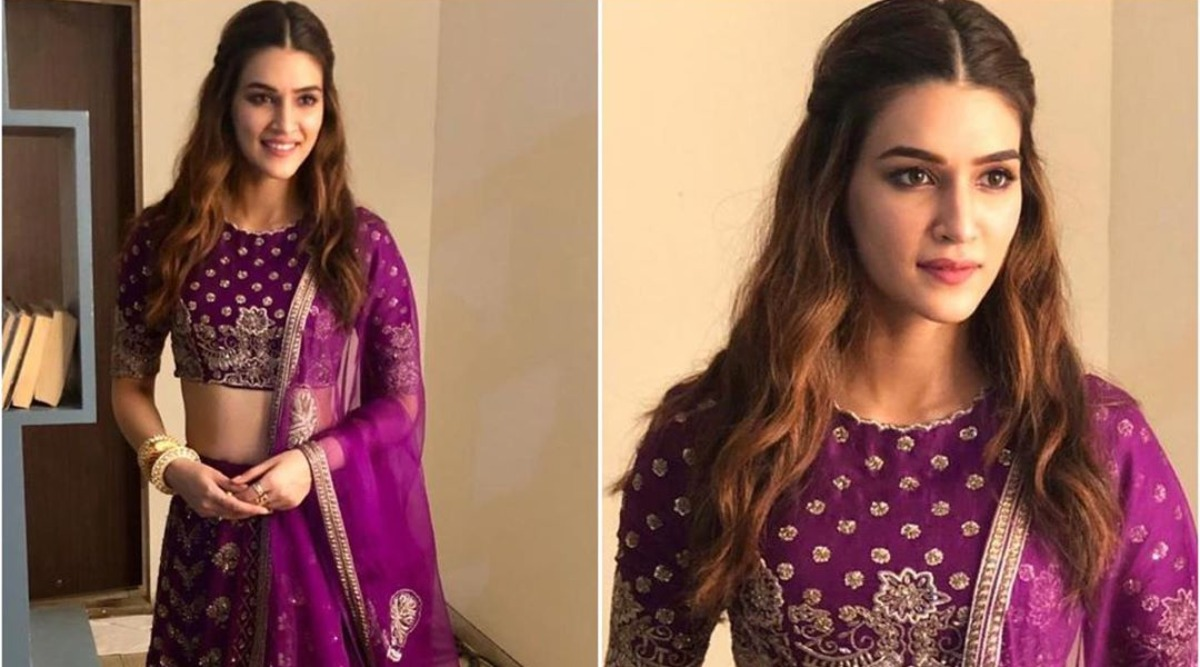 Diwali 2019 Fashion: Kriti Sanon's Purple Jayanti Reddy Lehenga Is Simply Gorgeous And Ideal For The Festival Of Lights!