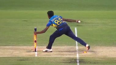 Lakshan Sandakan Trolled After Forgetting to Touch Ball With Stumps While Trying to Run-Out Steve Smith During Australia vs Sri Lanka 2nd T20I (Watch Video)