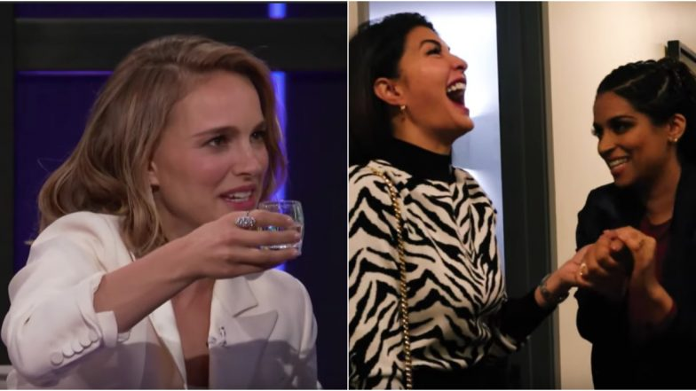 Lilly Singh Plays a Game of Shot Caller With Natalie Portman on Her Show and Ends Up Pranking Jacqueline Fernandez - Watch Video