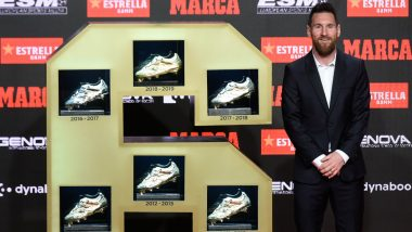 Lionel Messi Wins Sixth European Golden Shoe Award